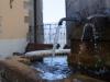 La fontana nel centro storico di Arquata del Tronto