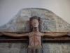 Il Crociffiso ligneo posto all'interno della Chiesa dell'Annunziata ad Arquata del Tronto