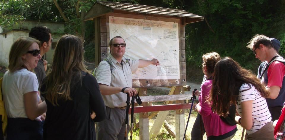 Dino Gazzani durante un escursione