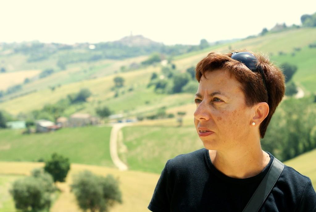 Fabrizia Raimondi la proprietaria dell'Azienda Agricola Giustina